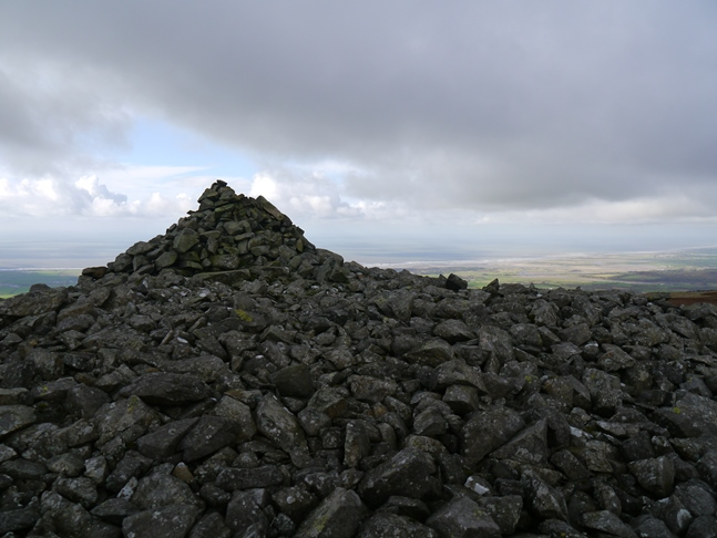 The large cairn on the top of Kinmont Buck Barrow