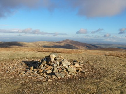 The top of Knott looking towards Carrock Fell