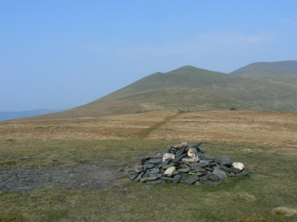 The top of Lonscale Fell looking towards Skiddaw Little Man