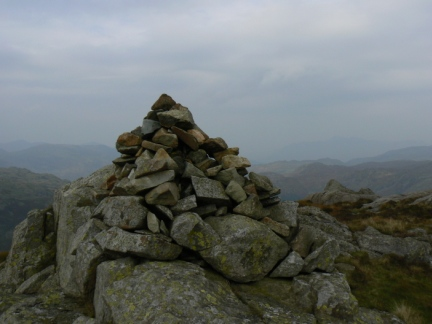 The top of Sergeant's Crag