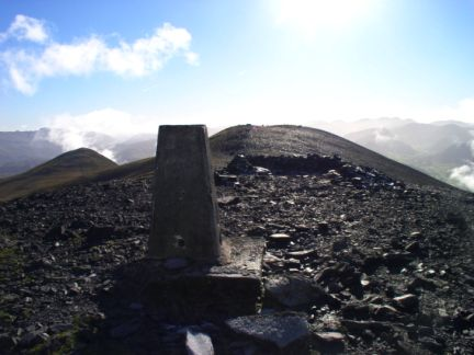 The top of Skiddaw
