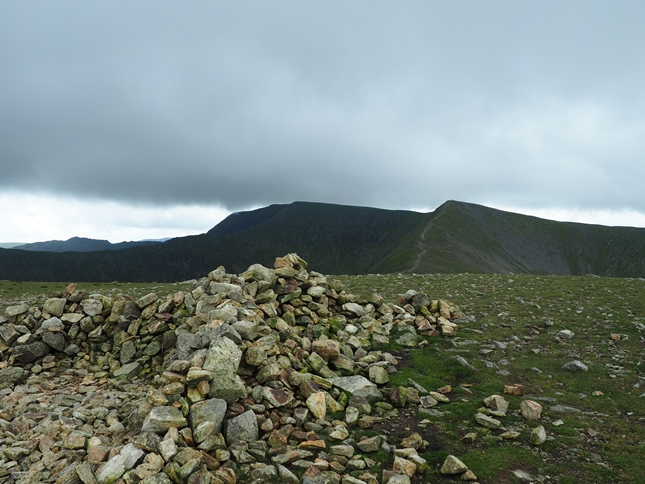 The summit of White Side looking towards Helvellyn