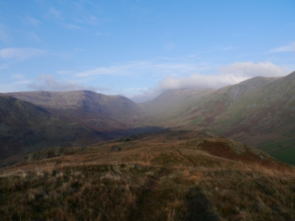 Looking north to the head of the Trout Beck valley