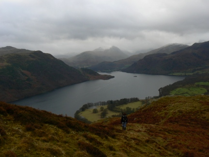 The view of Ullswater on the descent from Gowbarrow Fell
