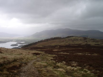 Walla Crag from Bleaberry Fell
