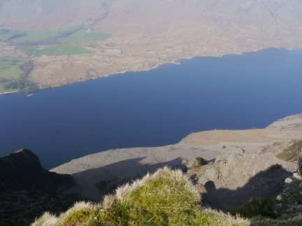 Looking down the Screes to the lake