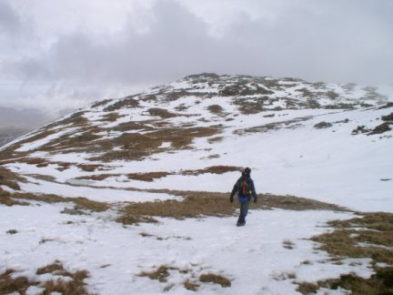 My companion heading for Wetherlam from Black Sails
