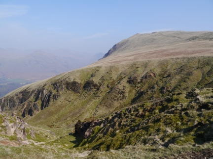 Looking across the head of Greathall Gill to Whin Rigg