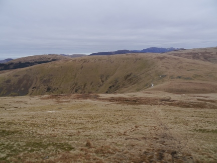 Looking back at Whoap from the climb up Lank Rigg