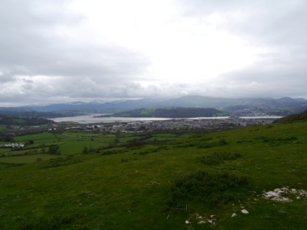The view across to the Conwy Estuary from the top of Bryn Pydew