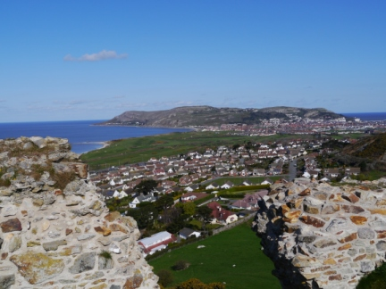 Great Orme from the meagre ruins of Deganwy Castle