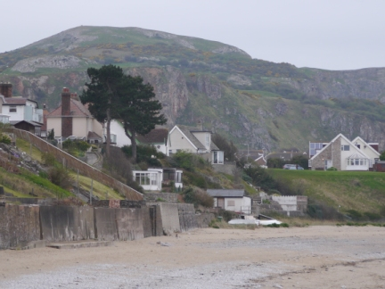 Little Orme above the houses of Penhryn Bay