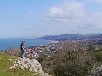 On Bryn Euryn looking out over Colwyn Bay