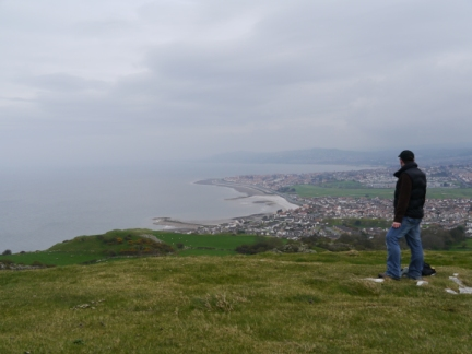 On Little Orme looking towards Rhos-on-Sea