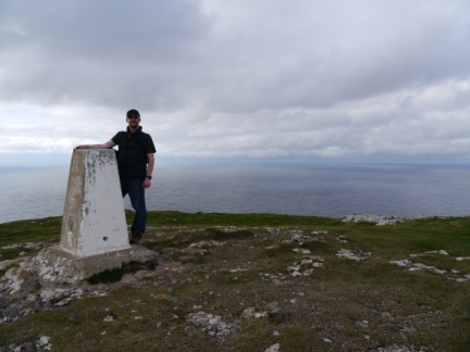 By the trig point on Little Orme