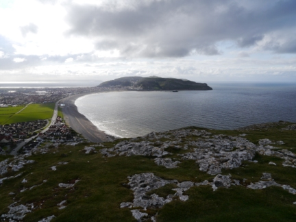 Looking along Ormes Bay to Great Orme