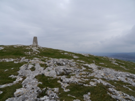 The trig point on Little Orme Head