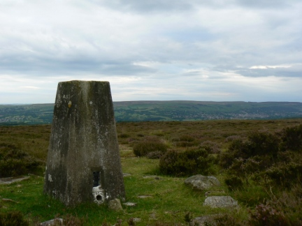 The trig point on Askwith Moor