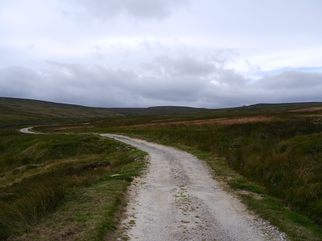 The track above Blayshaw Gill that we used to climb on to the moor