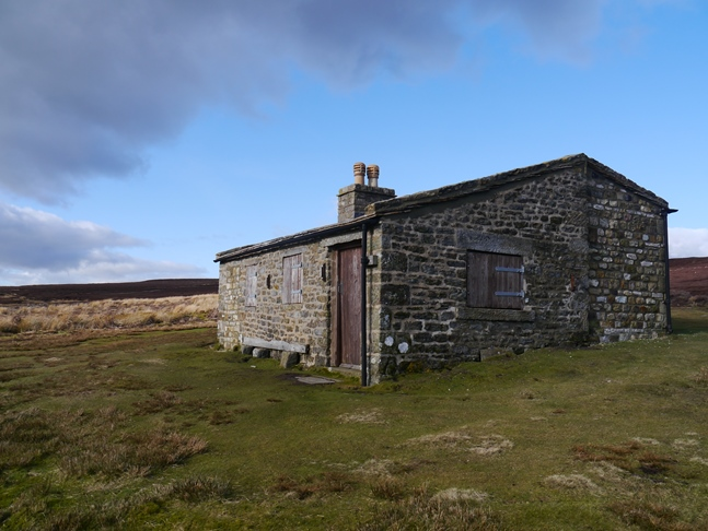 The shooting hut on Caldbergh Moor