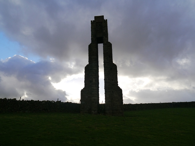 The sighting tower above Carlesmoor