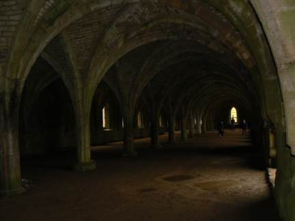 The magnificently vaulted Abbey cellarium