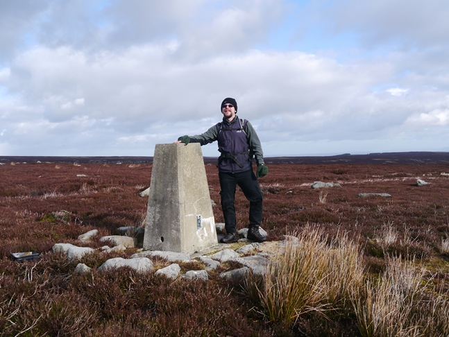 The trig point on Colsterdale Moor