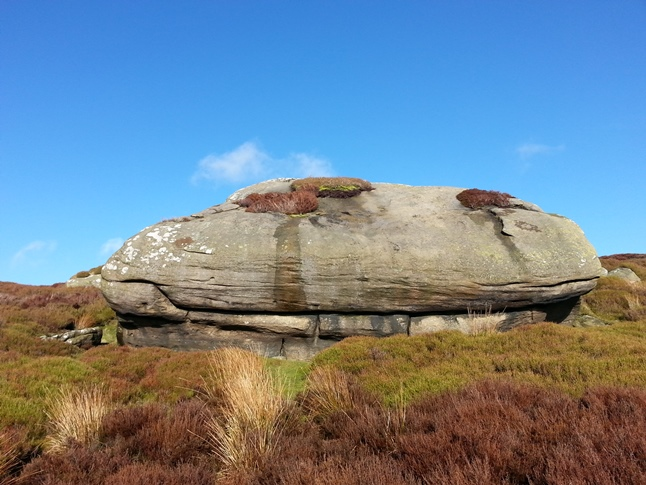 One of the large boulders on Cow Close Crag