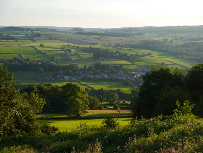 Looking down at Dacre Banks