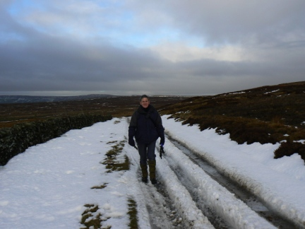 Dave on one of the green lanes on Fountains Earth Moor