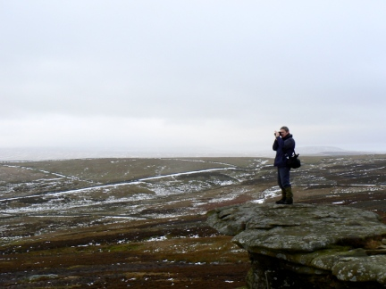 Dave taking a picture on one of the outcrops