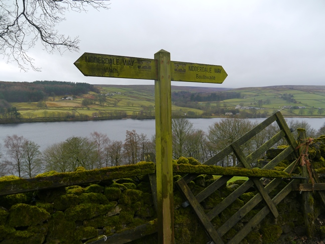 The walk along the eastern side of Gouthwaite Reservoir followed the Nidderdale Way