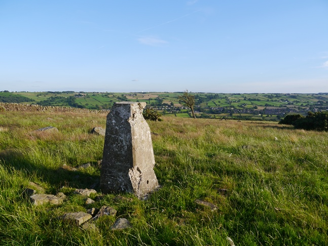 The rather battered looking Hartwith trig point