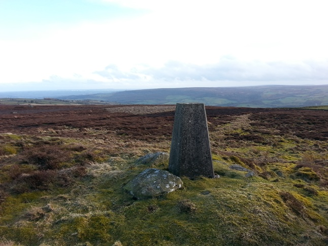 The trig point on High Bishopside