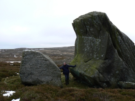The huge boulder just to the east of Sypeland Crags
