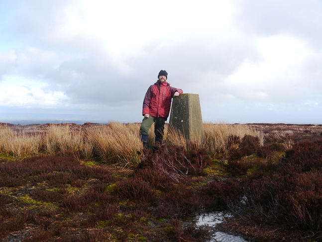 By the trig point on Kettlestang Hill