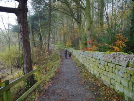 The path leading to Fewston Embankment