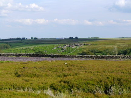 Looking across to Low Huller Stones from the bridleway