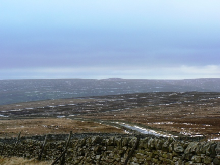 A distant Meugher from the top of the Masham / Lofthouse road