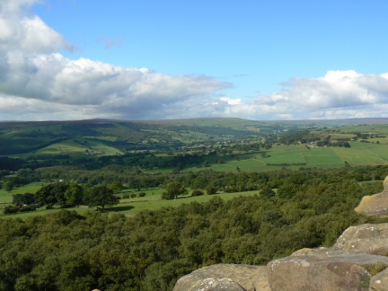 The view of Nidderdale from Brimham Rocks