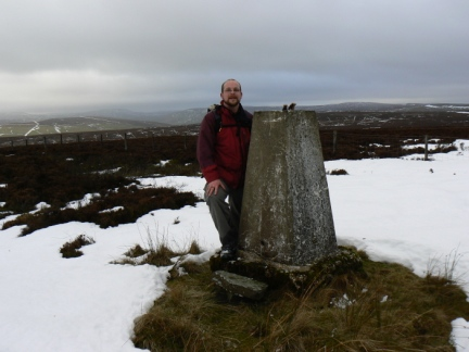 By the trig point on Ouster Bank