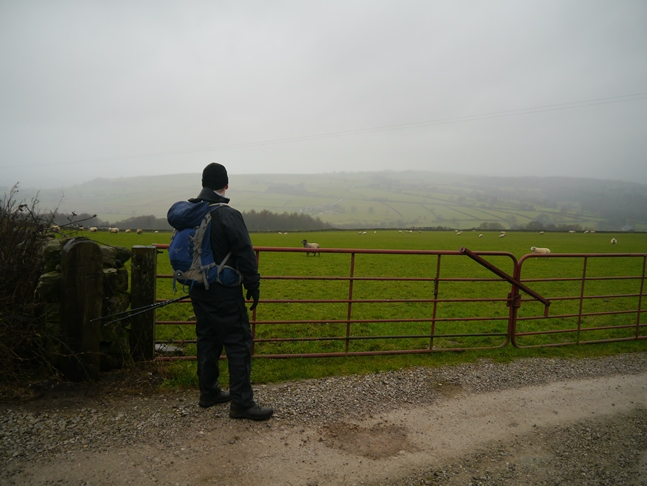 Paul looking out over a murky Nidderdale