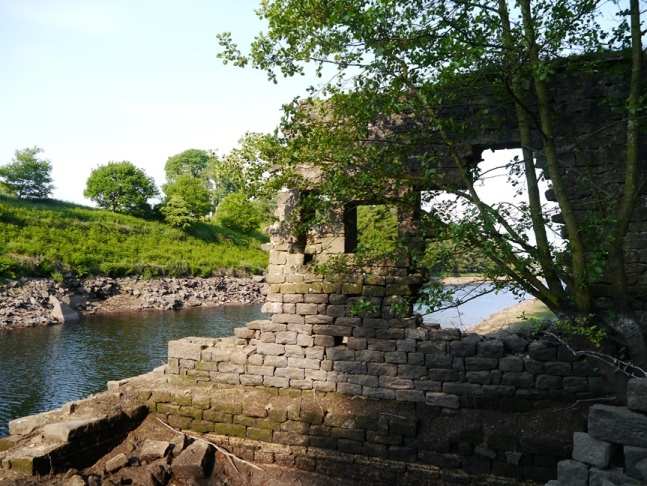 A ruin from the drowned village of West End