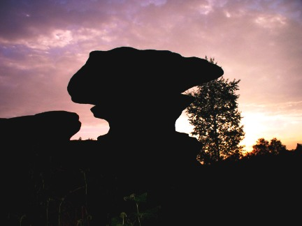 Silhouette of one of the rocks on Brimham Moor