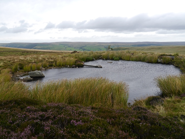 The small tarn below the first shooting house