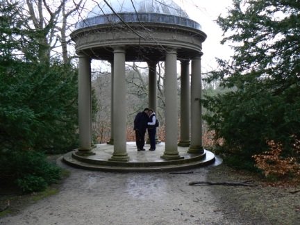 Mum and David in the Temple of Fame folly