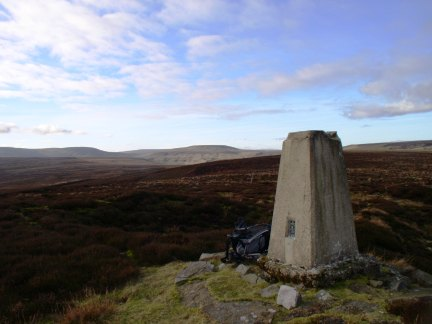 The trig point on Rain Stang