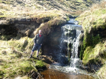 Next to the waterfall on Alston Cleugh