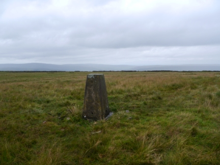 The trig point on Alston Moor