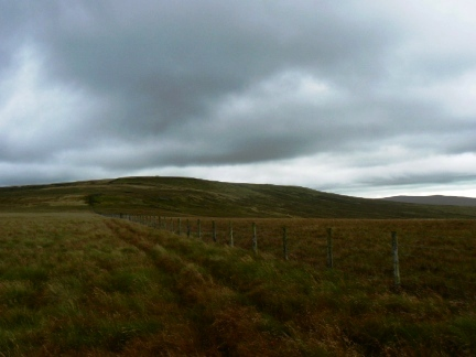 Following the fence towards Black Fell